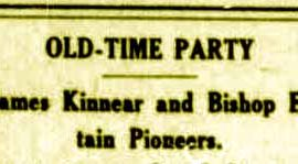 "An ""Old-Time Party"" in 1911"